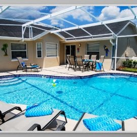 Palm Retreat 4 Bedroom 2 Bath Orlando Villa